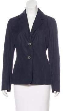 Celine Notch-Lapel Button-Up Blazer