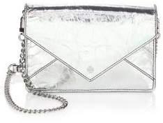 Tory Burch Metallic Envelope Suede Mini Bag - SILVER - STYLE