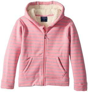 Toobydoo Fleece Lined Stripe Hoodie Girl's Sweatshirt