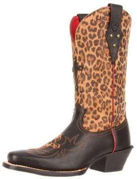 Ariat Women's Legend Spirit Leopard Black Deertan Leather Boots