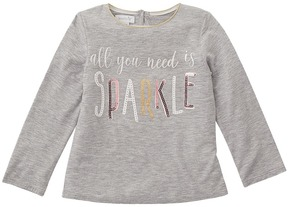 Mud Pie Sparkle Long Sleeve Shirt Girl's Clothing