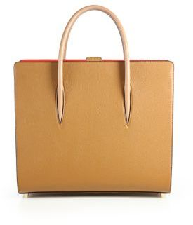 Christian Louboutin Paloma Pebbled Leather Tote