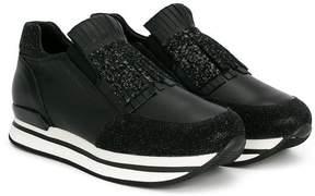 Hogan Teen glitter fringe sneakers