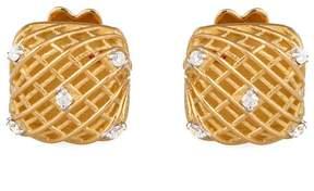 Roberto Coin Soie 18K Yellow Gold 0.07ct Diamond Earrings