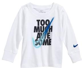 Nike Infant Boy's Too Much Awesome T-Shirt