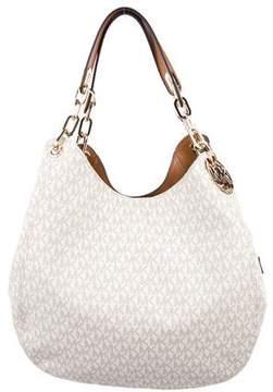 MICHAEL Michael Kors Michael Kors Leather-Trimmed Monogram Bag