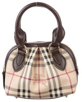 Burberry Mini Haymarket Check Bag - BROWN - STYLE
