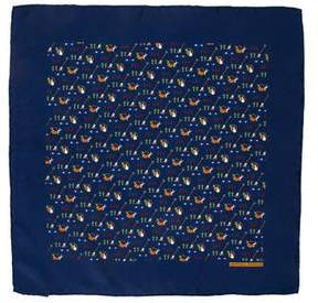 Hermes Silk Garden Print Pocket Square