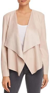 Bagatelle Draped Faux Leather Jacket