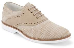 G.H. Bass & Co & Co. Mens Parker Leather/knit Saddle Oxford Shoe.