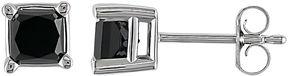 Black Diamond FINE JEWELRY 1 CT. T.W. Princess-Cut Color-Enhanced Stud Earrings