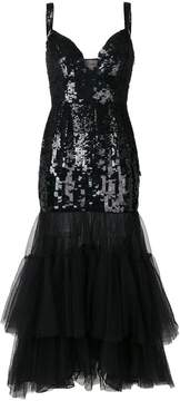 Temperley London sequinned tulle tiered dress