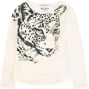 Pepe Jeans Graphic slubbed jersey T-shirt