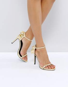 New Look Frill Back Two Part Heeled Sandal