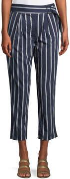 J.o.a. Sash-Waist Striped Pants