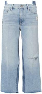 Frame Le Reconstructed Cropped Wide Leg Jeans