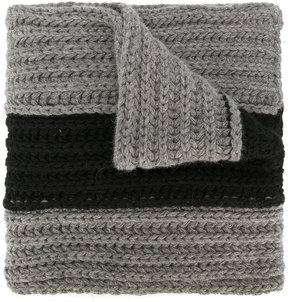 DSQUARED2 striped ribbed scarf