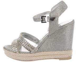 Gina Glitter Embellished Wedge Sandals