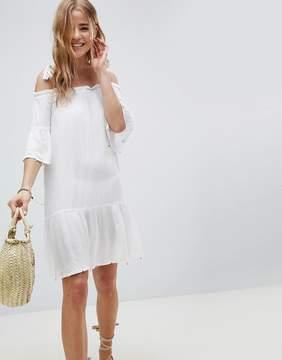 Matthew Williamson MW By MW by off shoulder beach dress in white
