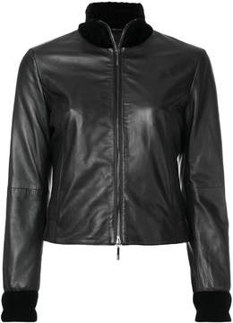Armani Jeans high-neck zip jacket
