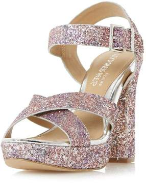 Head Over Heels *Head Over Heels by Dune Glitter 'Miya' High Heel Sandals