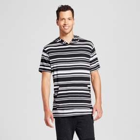 Jackson Men's Short Sleeve Curved Hem Hoodie Gray Stripe