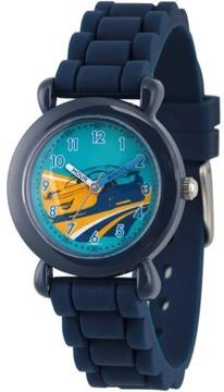 Disney 3 Cruz Ramirez Boys' Blue Plastic Time Teacher Watch, Blue Silicone Strap