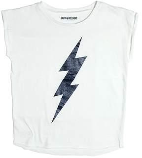 Zadig & Voltaire Lightning Bolt Cotton Jersey T-Shirt