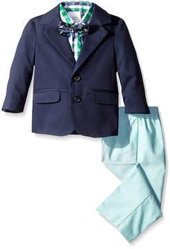 Izod Green Twill Chambray Blazer Set - Boys