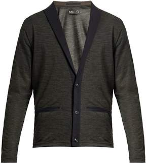 Kolor Peak-lapel wool-blend cardigan