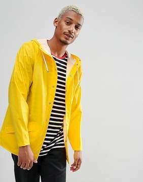 Rains Short Waterproof Jacket in Yellow