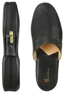 Moreschi Men's Black Leather Sandals.