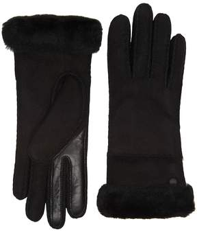 UGG Exposed Waterproof Sheepskin Tech Gloves with Slim Pile Extreme Cold Weather Gloves