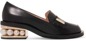 Nicholas Kirkwood Casati Embellished Leather Loafers - Black