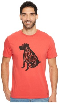 Life is Good I Like Big Mutts Crusher Tee Men's Clothing