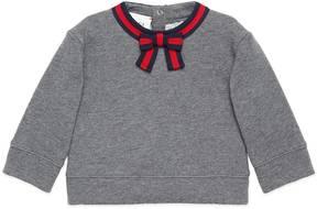 Gucci Baby sweatshirt with Web bow