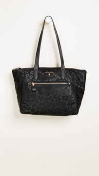 MICHAEL Michael Kors Nylon Kelsey Medium Top Zip Tote - BLACK - STYLE