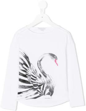 Little Marc Jacobs swan printed top