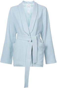 Apiece Apart shawl-collar belted blazer