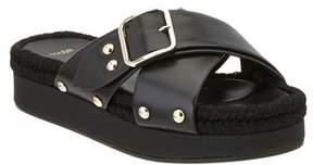 Maje Flyope Leather Sandal.