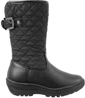 Joe Fresh Toddler Girls' Quilted Boots, Black (Size 10)