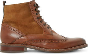 Dune Ladies Tan Classic Philomena Leather Brogue Ankle Boots