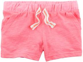 Carter's Toddler Girl Slubbed Drawstring Shorts