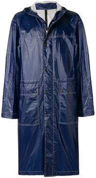 Joseph contrast stitch hooded coat