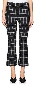 Derek Lam 10 Crosby Women's Checked Flannel Flared Crop Pants