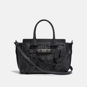 COACH Coach Swagger 27 With Tea Rose Tooling - DARK GUNMETAL/BLACK - STYLE