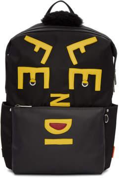 Fendi Black Nylon Faces Backpack