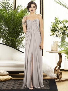 Dessy Collection 2879 Dress in Taupe