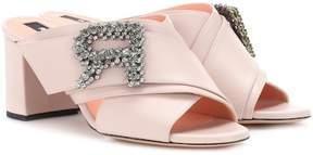 Rochas Embellished leather sandals