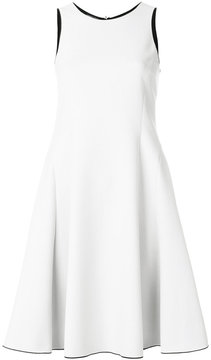 Emporio Armani fitted flared dress